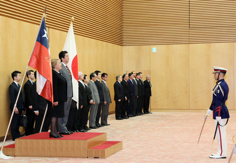日・チリ首脳会談等