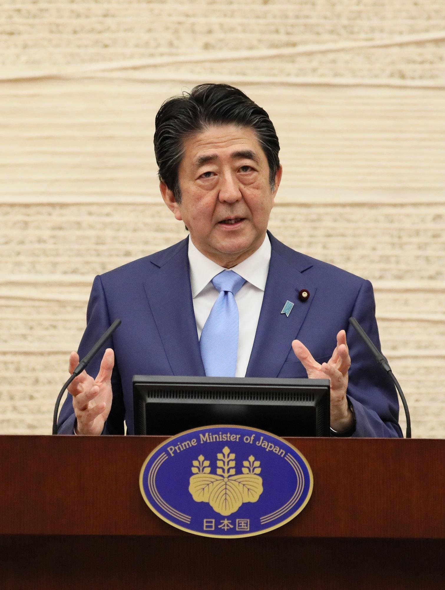 令和2年5月4日 新型コロナウイルス感染症に関する安倍内閣総理大臣記者 ...
