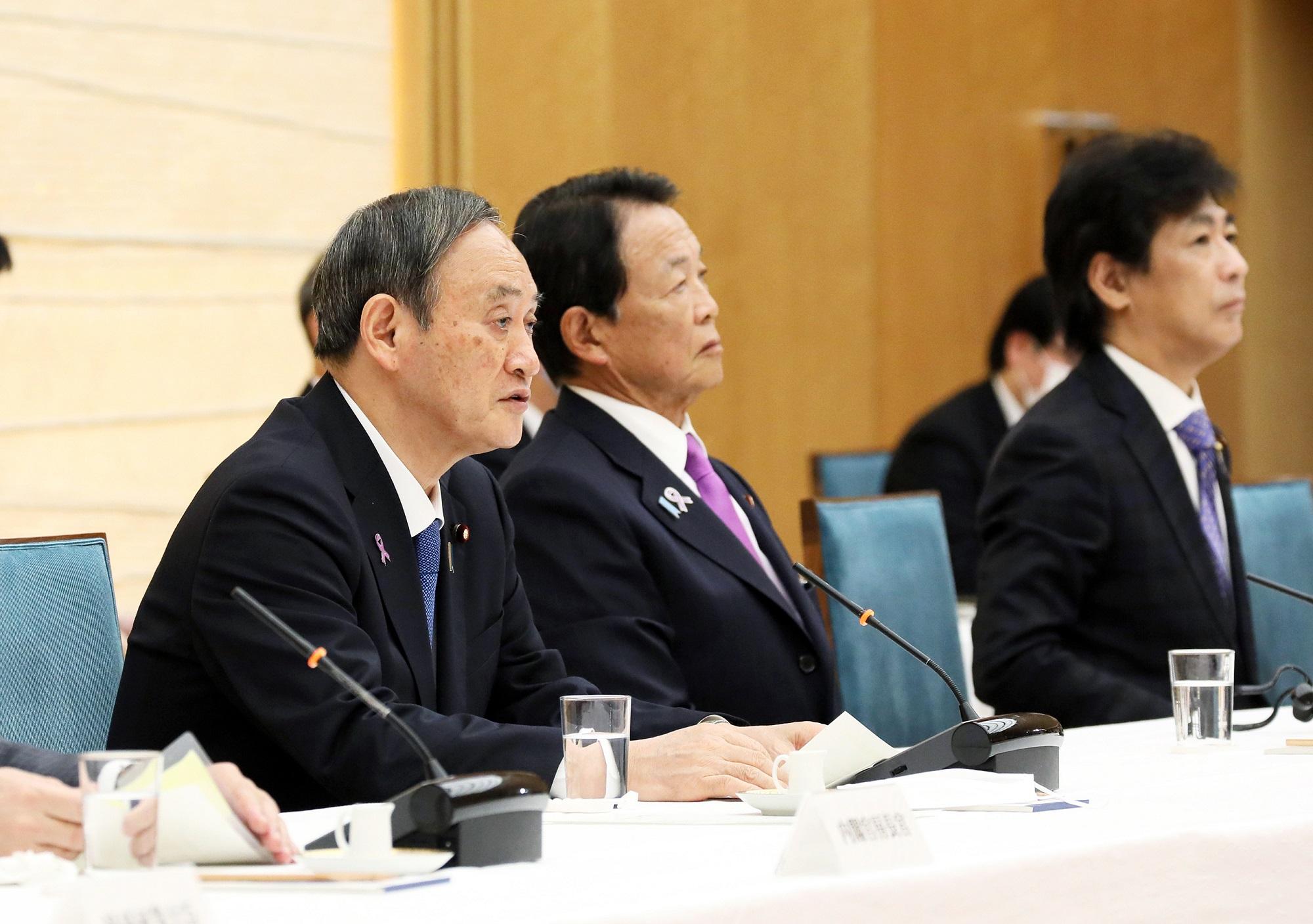 令和2年11月16日 政府与党連絡会議 | 令和2年 | 総理の一日 | ニュース ...
