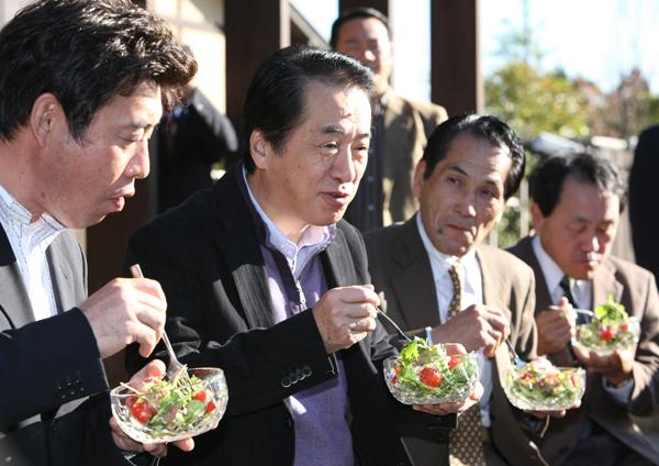総理の動き-野菜農家視察-平成22年12月4日