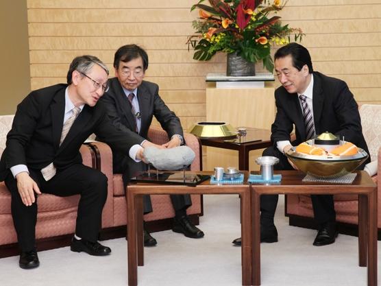 JAXA川口教授ほかによる表敬-平成22年12月9日
