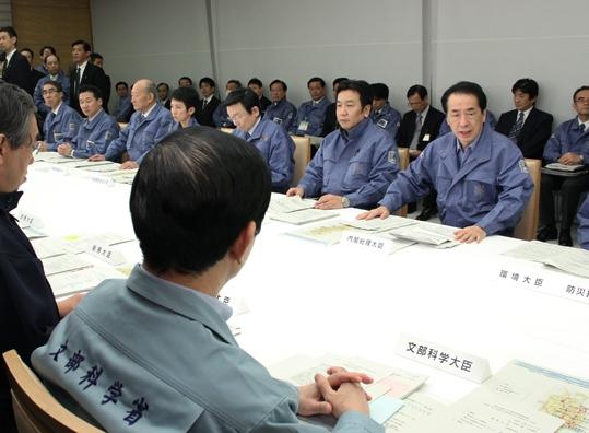 第6回東北地方太平洋沖地震緊急災害対策本部会議及び第4回原子力災害対策本部会議-平成23年3月12日