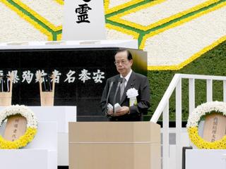 総理の動き-長崎原爆犠牲者慰霊平和祈念式典