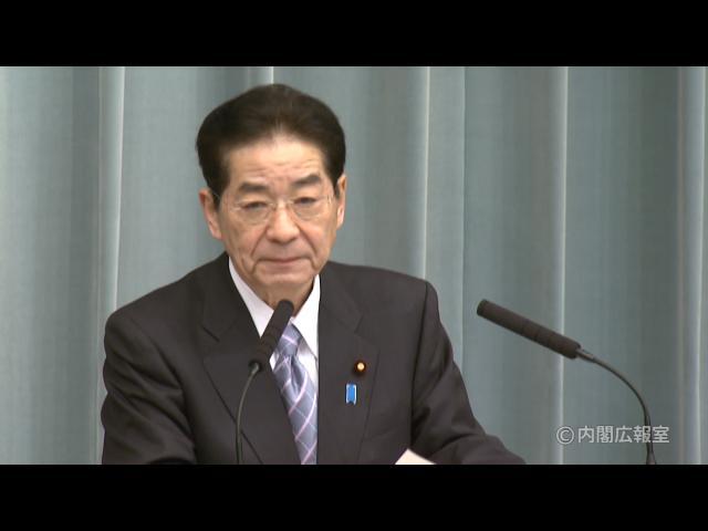 平成22年11月22日(月)午前-内閣官房長官記者会見-
