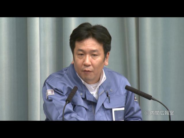 平成23年3月11日(金)午後3-内閣官房長官記者会見