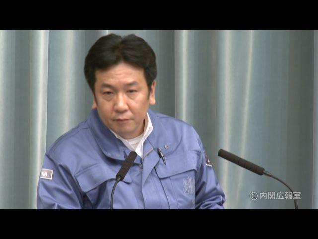 平成23年3月13日(日)午後(15:27~)-内閣官房長官記者会見